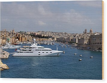 Harbour Valletta. Wood Print by Terence Davis