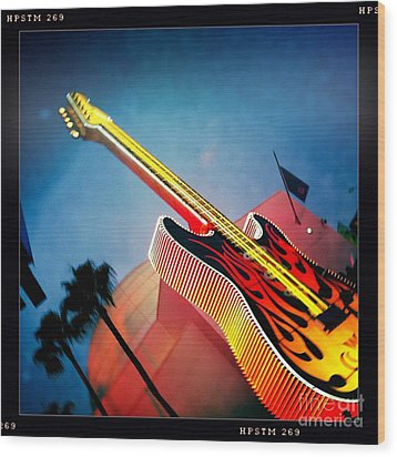 Wood Print featuring the photograph Hard Rock Guitar by Nina Prommer