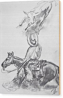 Hardstop Wood Print by Jim  Arnold