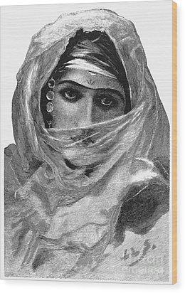 Harem Woman, 19th Century Wood Print by Granger