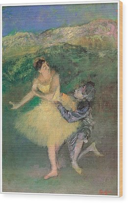 Harlequin And Colombine Wood Print by Edgar Degas