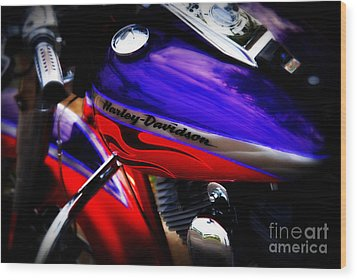 Harley Addiction Wood Print by Susanne Van Hulst