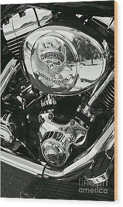 Harley Davidson Bike - Chrome Parts 02 Wood Print