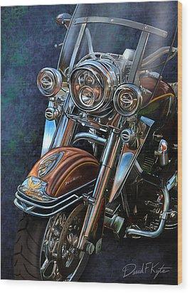 Harley Davidson Ultra Classic Wood Print by David Kyte