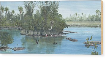 Harmony Wood Print by Kevin Brant