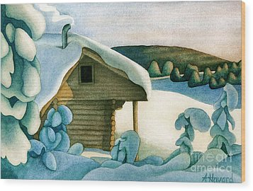 Harold Price Cabin Wood Print by Anne Havard