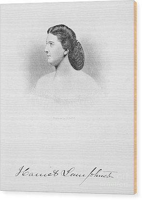 Harriet Lane Johnston Wood Print by Granger