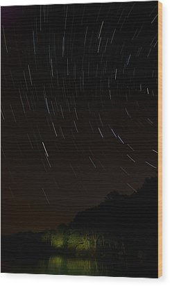 Harriman Star Trails Wood Print by Mike Horvath