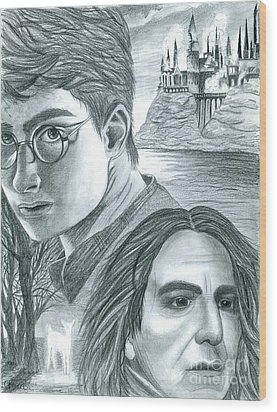 Harry Potter Wood Print by Crystal Rosene