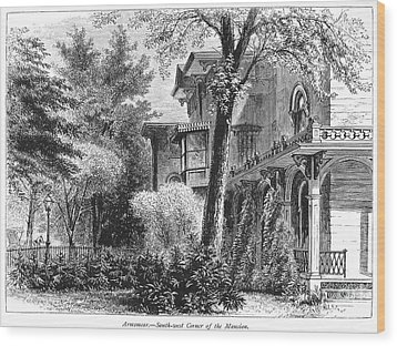 Hartford: Armsear Mansion Wood Print by Granger