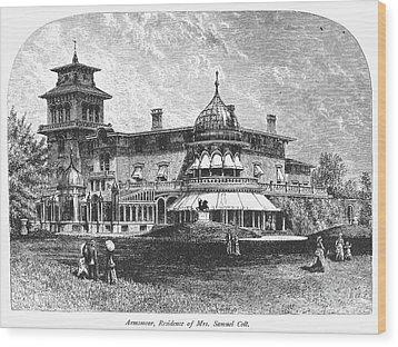 Hartford: Armsmear Mansion Wood Print by Granger
