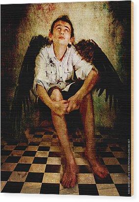 Hathaway Angel Wood Print