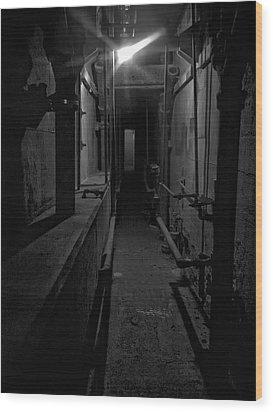 Haunted 1946 Battle Of Alcatraz Death Chamber Wood Print by Daniel Hagerman