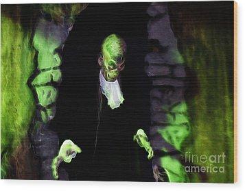 Haunted Butler Wood Print by Darleen Stry