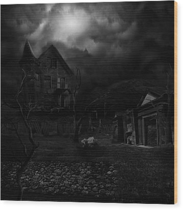 Haunted House II Wood Print by Lisa Evans