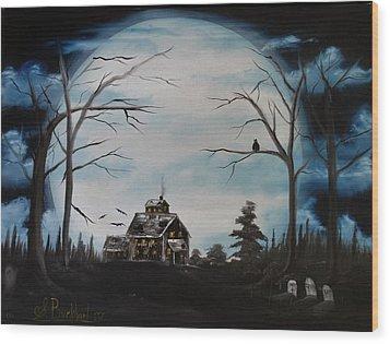 Haunted Mansion 2006 Wood Print by Shawna Burkhart