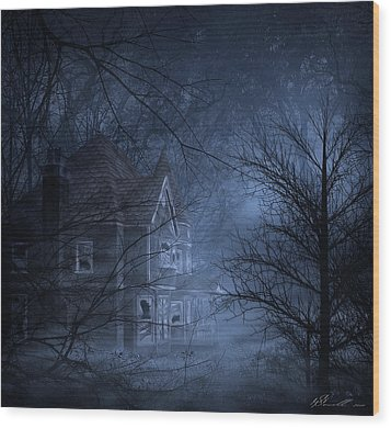 Haunted Place Wood Print by Svetlana Sewell