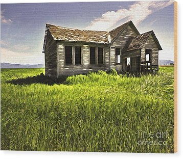 Haunted Shack In Idaho Wood Print by Gregory Dyer