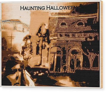 Haunting Halloween Wood Print by Marian Hebert