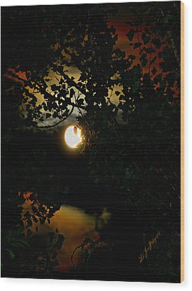 Wood Print featuring the photograph Haunting Moon IIi by Jeanette C Landstrom