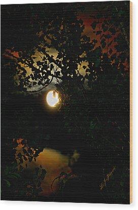 Haunting Moon IIi Wood Print by Jeanette C Landstrom