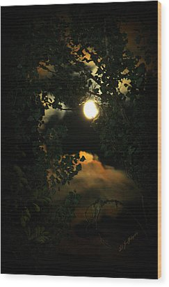 Haunting Moon Wood Print by Jeanette C Landstrom