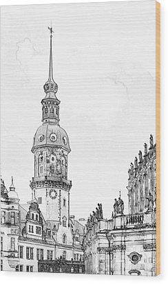Hausmannsturm In Dresden Germany Wood Print by Christine Till