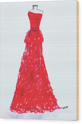 Haute Couture Wood Print by Trilby Cole