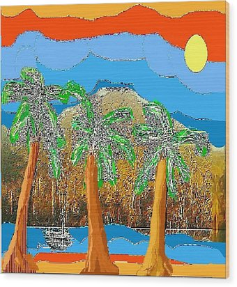 Wood Print featuring the digital art Havana Sunset by Rc Rcd