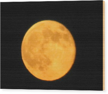 Wood Print featuring the photograph Havest Moon by Shawn Hughes