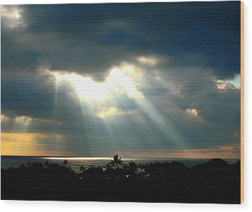 Hawaii Cloud Burst Wood Print