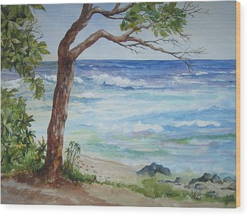 Hawaiian Beach Wood Print