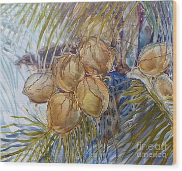 Wood Print featuring the painting Hawaiian Cluster by Louise Peardon