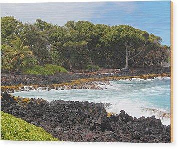 Wood Print featuring the photograph Hawaiian Paradise by Kerri Ligatich