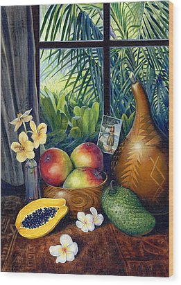 Hawaiian Still Life Wood Print by Anne Wertheim