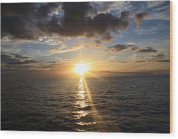 Hawaiian Sunset 2 Wood Print by Brandon Radford