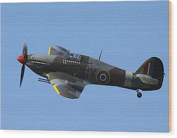 Hawker Hurricane Wood Print by Ken Brannen