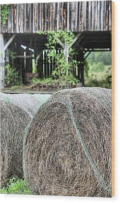 Hay Wood Print by JC Findley
