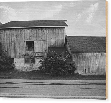 Hay Lofted Barn Wood Print by Jan W Faul