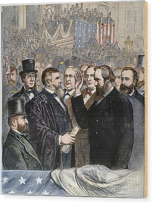 Hayes Inauguration Wood Print by Granger
