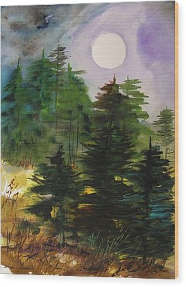 Haze Moving In Wood Print by John Williams
