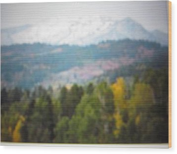Wood Print featuring the photograph Haze Of Yellowstone by Shawn Hughes