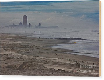 Hdr Beach Beaches Ocean Sea Seaview Waves Sandy Photos Pictures Photography Scenic Photograph Photo  Wood Print by Pictures HDR