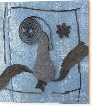 Head Wood Print by Bernard Jaubert