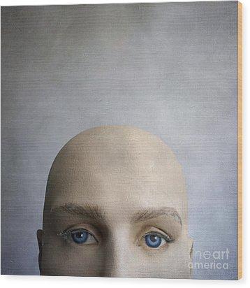 Head Of A Dummy. Wood Print by Bernard Jaubert