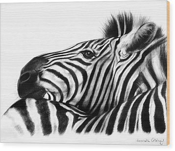 Head Rest Wood Print by Lucinda Coldrey