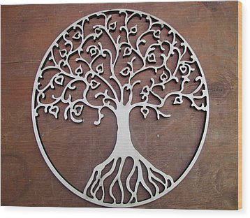 Heart-fruit Tree Wood Print by Keith Cichlar