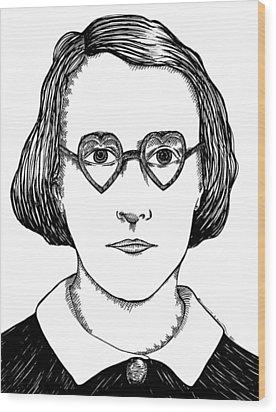 Heart Glasses Wood Print by Karl Addison