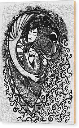 Heart Wood Print by Ievgeniia Lytvynovych