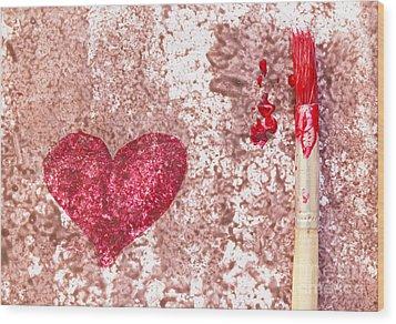 Heart  Wood Print by Igor Kislev